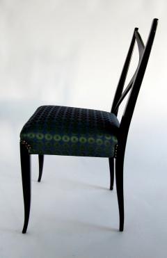 Guglielmo Ulrich A Pair of Italian Modern Black Lacquer X Back Chairs Guglielmo Ulrich - 1340765