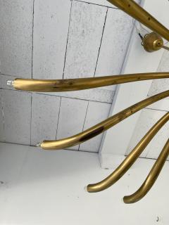 Guglielmo Ulrich Brass Sun Chandelier by Guglielmo Ulrich Italy 1960s - 2128276