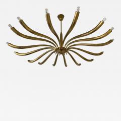 Guglielmo Ulrich Brass Sun Chandelier by Guglielmo Ulrich Italy 1960s - 2132033