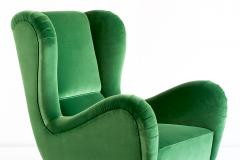 Guglielmo Ulrich Exceptional Pair of Guglielmo Ulrich Attributed Wingback Chairs 1940s - 540789