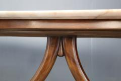 Guglielmo Ulrich Guglielmo Ulrich Dinning Table MidCentury in Marble and Mahogany 1950s - 1116200