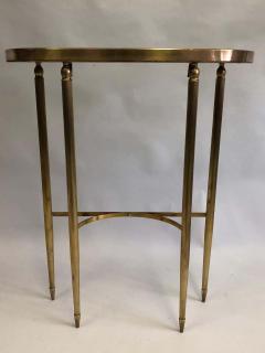 Guglielmo Ulrich Italian Mid Century Modern Neoclassical Brass Console by Guglielmo Ulrich 1948 - 1759386