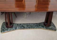 Guglielmo Ulrich Italian Modern Rosewood and Serpentine Marble Dining Table - 392081