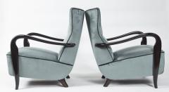 Guglielmo Ulrich Large Pair Of Italian Mid Century Velvet Lounge Chairs by Guglielmo Ulrich - 1654751