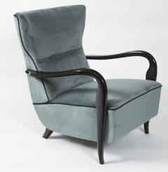 Guglielmo Ulrich Large Pair Of Italian Mid Century Velvet Lounge Chairs by Guglielmo Ulrich - 1654766
