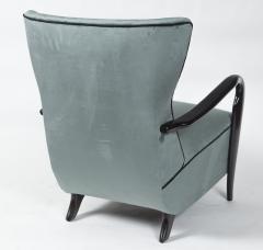 Guglielmo Ulrich Large Pair Of Italian Mid Century Velvet Lounge Chairs by Guglielmo Ulrich - 1654767