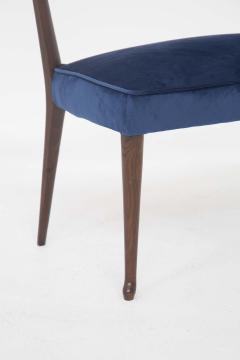 Guglielmo Ulrich Mid Century Velvet and Walnut Wooden Bench with Backrest by Guglielmo Ulrich - 2095603