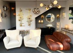 Guglielmo Ulrich Pair of Armchairs by Guglielmo Ulrich Italy 1950s - 1235887