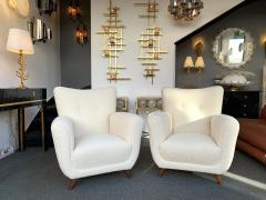 Guglielmo Ulrich Pair of Armchairs by Guglielmo Ulrich Italy 1950s - 1235888