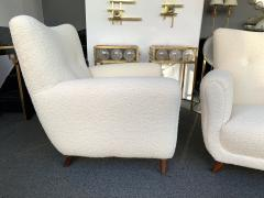 Guglielmo Ulrich Pair of Armchairs by Guglielmo Ulrich Italy 1950s - 1235889