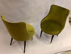 Guglielmo Ulrich Pair of Italian Mid Century Modern Lounge Slipper Chairs by Guglielmo Ulrich - 1736726