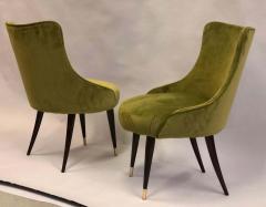 Guglielmo Ulrich Pair of Italian Mid Century Modern Lounge Slipper Chairs by Guglielmo Ulrich - 1736728