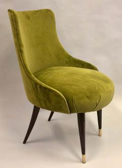 Guglielmo Ulrich Pair of Italian Mid Century Modern Lounge Slipper Chairs by Guglielmo Ulrich - 1736733