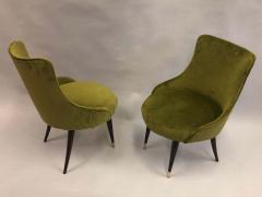 Guglielmo Ulrich Pair of Italian Mid Century Modern Lounge Slipper Chairs by Guglielmo Ulrich - 1736736