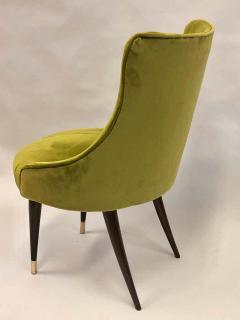 Guglielmo Ulrich Pair of Italian Mid Century Modern Lounge Slipper Chairs by Guglielmo Ulrich - 1736739