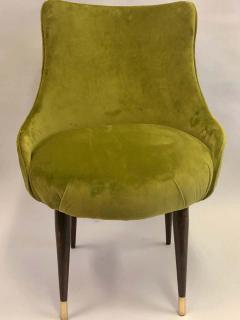 Guglielmo Ulrich Pair of Italian Mid Century Modern Lounge Slipper Chairs by Guglielmo Ulrich - 1736740