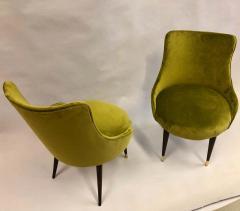 Guglielmo Ulrich Pair of Italian Mid Century Modern Lounge Slipper Chairs by Guglielmo Ulrich - 1736742