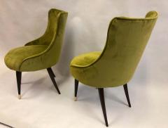 Guglielmo Ulrich Pair of Italian Mid Century Modern Lounge Slipper Chairs by Guglielmo Ulrich - 1736747