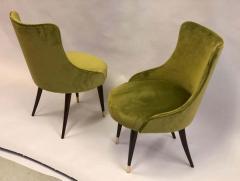 Guglielmo Ulrich Pair of Italian Mid Century Modern Lounge Slipper Chairs by Guglielmo Ulrich - 1736749