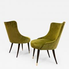 Guglielmo Ulrich Pair of Italian Mid Century Modern Lounge Slipper Chairs by Guglielmo Ulrich - 1738377