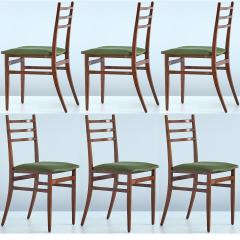 Guglielmo Ulrich Set of Six Guglielmo Ulrich Trieste Dining Chairs 1961 - 448913