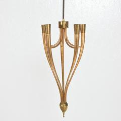 Guglielmo Ulrich Two Tone Bronze Italian Chandelier 5 Light Pendant Guglielmo Ulrich 1950s - 1818965