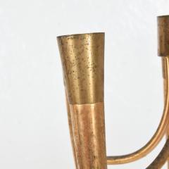 Guglielmo Ulrich Two Tone Bronze Italian Chandelier 5 Light Pendant Guglielmo Ulrich 1950s - 1818969
