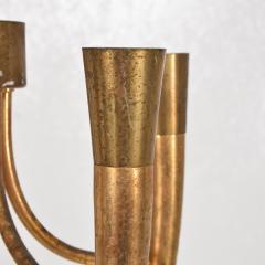 Guglielmo Ulrich Two Tone Bronze Italian Chandelier 5 Light Pendant Guglielmo Ulrich 1950s - 1818970