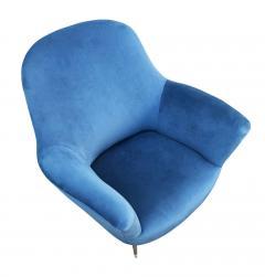 Guglielmo Veronesi Pair of Lounge Chairs by Veronesi for ISA Italy 1960s - 1537012