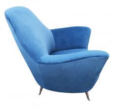 Guglielmo Veronesi Pair of Lounge Chairs by Veronesi for ISA Italy 1960s - 1537015