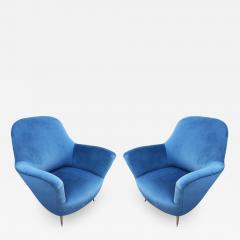 Guglielmo Veronesi Pair of Lounge Chairs by Veronesi for ISA Italy 1960s - 1537603
