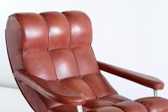Guido Bonzani Guido Bonzani Lounge Chair in Brown Leatherette for Tecnosalotto Italy 1970s - 1095636