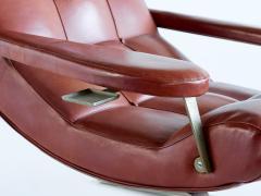Guido Bonzani Guido Bonzani Lounge Chair in Brown Leatherette for Tecnosalotto Italy 1970s - 1095637