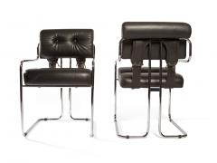 Guido Faleschini Set of 12 Pace Faleschini Leather and Chrome Tucroma Chairs - 432637