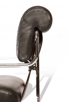 Guido Faleschini Set of 12 Pace Faleschini Leather and Chrome Tucroma Chairs - 432641