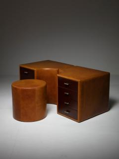Guido Faleschini Set of Two Chest of Drawers and Stools by Guido Faleschini for I 4 Mariani - 1044950