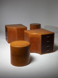 Guido Faleschini Set of Two Chest of Drawers and Stools by Guido Faleschini for I 4 Mariani - 1044951