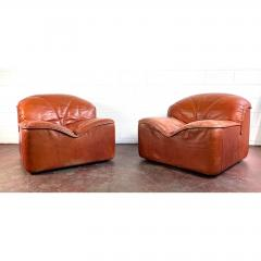 Guido Faleschini Vintage Guido Faleschini Leather Lounge Chairs a Pair - 1692100