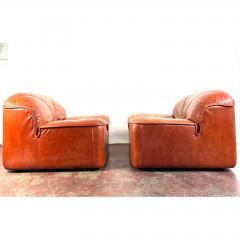 Guido Faleschini Vintage Guido Faleschini Leather Lounge Chairs a Pair - 1692101