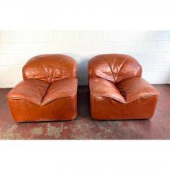 Guido Faleschini Vintage Guido Faleschini Leather Lounge Chairs a Pair - 1692104