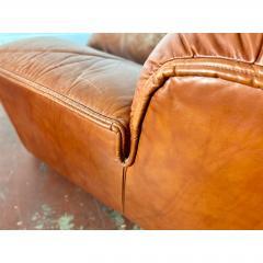 Guido Faleschini Vintage Guido Faleschini Leather Lounge Chairs a Pair - 1692119