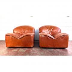 Guido Faleschini Vintage Guido Faleschini Leather Lounge Chairs a Pair - 1692128