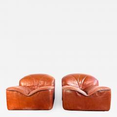 Guido Faleschini Vintage Guido Faleschini Leather Lounge Chairs a Pair - 1693664