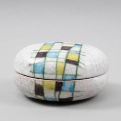 Guido Gambone A ceramic lided box with abstract decor - 1124003