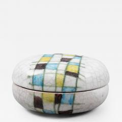 Guido Gambone A ceramic lided box with abstract decor - 1125704