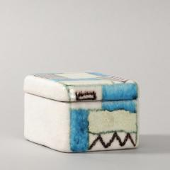 Guido Gambone A ceramic lided box with abstract decor - 1130696