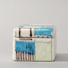 Guido Gambone A ceramic lided box with abstract decor - 1130697