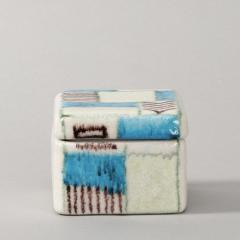 Guido Gambone A ceramic lided box with abstract decor - 1130699