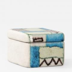 Guido Gambone A ceramic lided box with abstract decor - 1131948