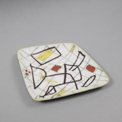 Guido Gambone A freeform ceramic plate with abstract decor - 1124007